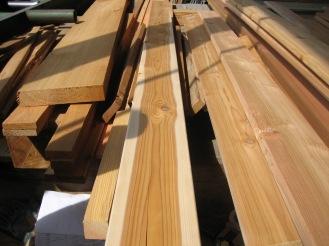 Low grade decking showing back side W/ Sapwood