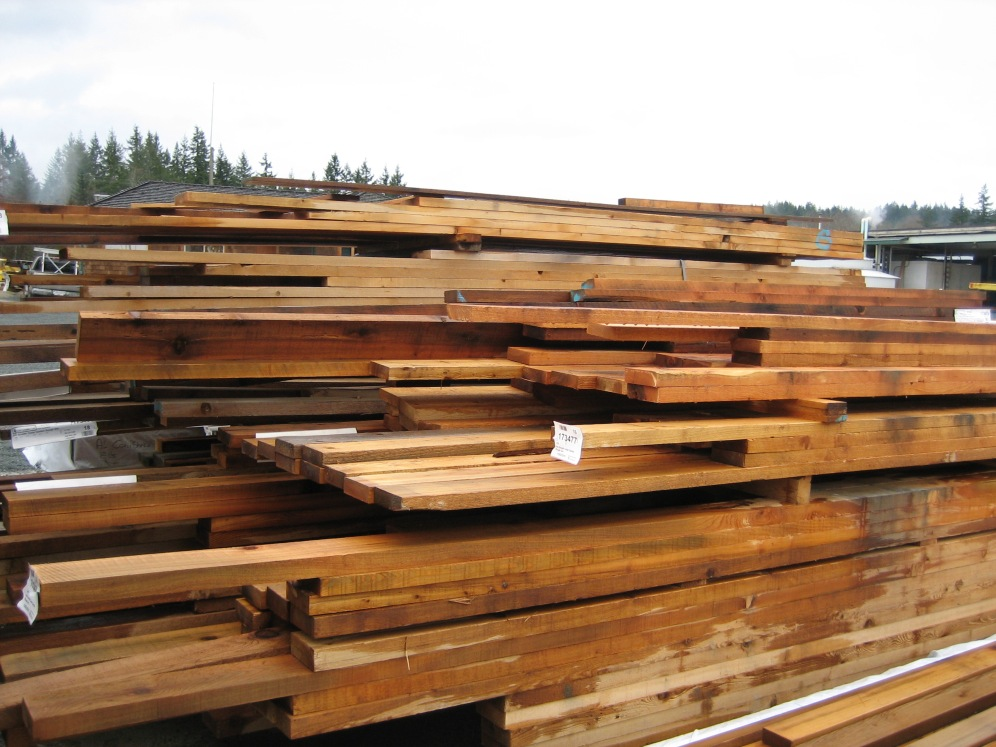 Low Grade Rough in Cedar,Fir and Hemlock.
